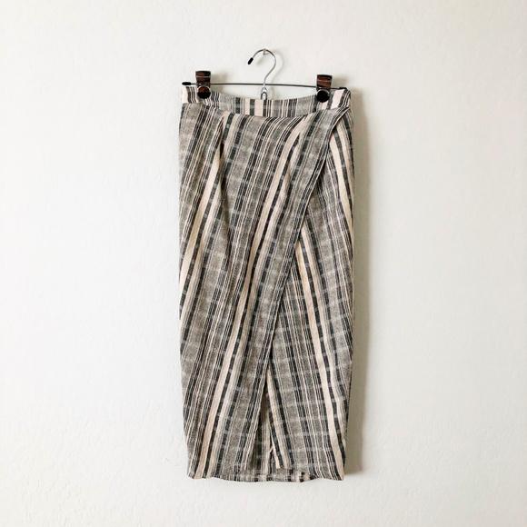 Astr Dresses & Skirts - ASTR Striped Crossover Pencil Skirt